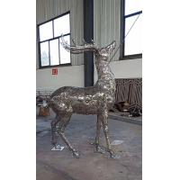 Wholesale 2019 China Stainless Steel Elk Wapiti Metal Sculptures For Garden Wall Art from china suppliers