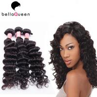 Wholesale Natural Black Deep Wave Brazilian Virgin Human Hair Extension For Women from china suppliers