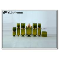 Wholesale Customized empty lotion bottles with pump , Middle section golden ink green from china suppliers