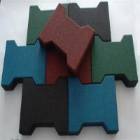 Wholesale Dog Bone Shaped Rubber Sports Flooring , Sports Flooring Interlocking Tiles from china suppliers
