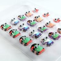 Wholesale Lovely Cartoon Googly Eye Nails Children Decorated 3D Fingernails ABS / Glue from china suppliers