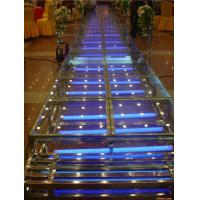 Wholesale 1.22 X 1.22 M Aluminum / Glass / Acrylic Stage Platform 3 Steps Stair from china suppliers