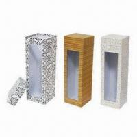 Wholesale Paper Wine Boxes, Suitable for Wine and Gift Packing, Easy to Use, Various Designs Available from china suppliers