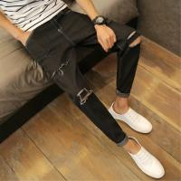 Wholesale High Waist Mens Super Skinny Jeans , Winter Warm Blue Pencil Skinny Jeans from china suppliers