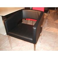 Wholesale Modern Style Black Faux Leather Dining Chairs For Simple Living from china suppliers