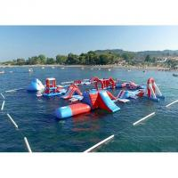 Wholesale Red and Blue Inflatable Aqua Park , 0.9mm PVC Tarpaulin Inflatable Sports Park from china suppliers
