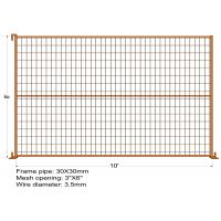 "Wholesale 8FT X 10FT ""Toronto Tower"" TEMPORARY FENCE Mesh 3""x6"" Diameter 3.5mm dupont powder coated minimum layer 100 microns from china suppliers"