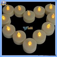 Wholesale 12 Flicker Light Flameless LED Tealight Tea Candles (JA027YE) from china suppliers