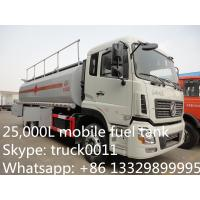 Wholesale Dongfeng Kinland double rear bridge 25cbm mobile fuel tank for sale, fuel truck for sale from china suppliers