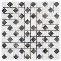 Wholesale Decorative Square Granite Stone Mosaic Tile, Marble Natural Stone Mosaic Wall Tile from china suppliers