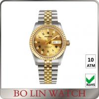 Wholesale 18K Full Gold Luminous Hands Watch , Ladies Gold Bracelet Watches With Date Window from china suppliers
