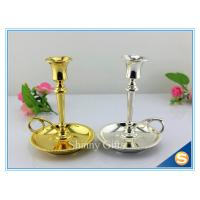 Quality Shinny Gifts Factory Gold Plating Metal Candle holder Church Brass Candle Holder Metal Holders for Candle for sale