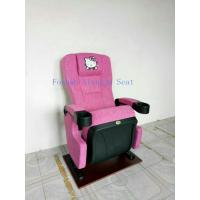 Wholesale Hello Kity headrest cinema chair ISO Certification PP Armrest Theatre Seating Chairs Flame Retardant Fabric from china suppliers
