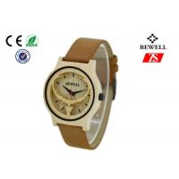 Wholesale Fashion Wooden Wrist Watch with Leather strap / Japan Movement from china suppliers