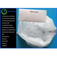 Wholesale Oral Anabolic Steroids Raw White Crystalline Powder  CAS 10418-03-8 Winstrol Stanozolol for Bodybuilding Lean Muscle from china suppliers