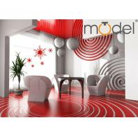 Wholesale Personalized Wall Decor Clock Red / Blue DIY Art Creative Sticker Wall Clock from china suppliers