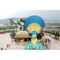 Wholesale Super Tornado Fiberglass Water Slides 14.6m Platform Height for Themed Adults from china suppliers