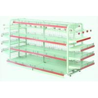 Quality Single Sided Metal Display Shelving Six Layers Cold Rolled Steel Material for sale