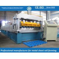 Wholesale High Speed European Structure Metrocop Tile Roll Forming Machine Working Speed 5-6m/min,automatic machine from china suppliers