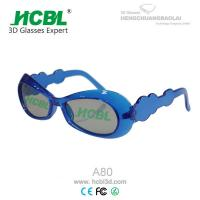 Wholesale Poalrized Imax Kid 3D Glasses With Transparent Deep Blue Frame / 3D Film Glasses from china suppliers