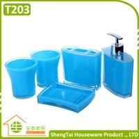 Wholesale Modern Design Popular Eco-Friendly Plastic Bath Accessory Set With Cheap Price from china suppliers