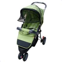 Wholesale Green 3 wheel Baby Stroller Carriage Baby Trend Stroller with Storage Basket from china suppliers