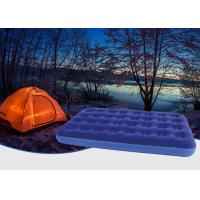 Quality Outdoor Camping Equipment Double Flocked Airbed , Twin Bed Air Mattress for sale