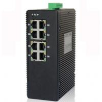 Wholesale 8-port unmanaged 10/100/1000M industrial Ethernet switch, DIN rail, double power supply from china suppliers