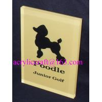 Wholesale Custom made branding advertising solid acrylic block wholesale from china suppliers
