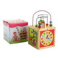 Buy cheap Wooden Circle Beads, Wooden Educational Toys from wholesalers