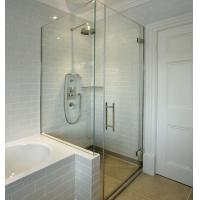 Buy cheap shower glass, bent curved tempered/toughened/glass for shower from wholesalers