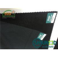 Wholesale PA 75 D * 100 D Broken Twill Weave Woven Interlining , Double Dot heavy weight interfacing from china suppliers