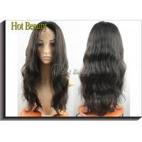 Wholesale Wholesale Price 100% Human Hair Full Lace Wigs Natural Black 1b# from china suppliers