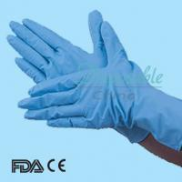 Wholesale Health & medical 9 inch blue nitrile gloves for examination from china suppliers