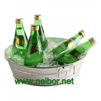 Wholesale Round galvanized metal beverage tub with handles soda cooler beverage cooler from china suppliers