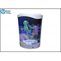 Wholesale 4L Desktop Jellyfish Custom Fish Tanks Colorfull LED Lights With Silicone Ornaments from china suppliers
