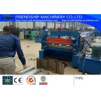 Wholesale 1.0-2.0mm Thickness Color Steel Metal Deck Roll Forming Machine With Panasonic PLC Control from china suppliers