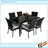 Wholesale Aluminum Frame 7 PC  Rattan Wicker Outdoor Furniture Set Dinning Table and Chairs from china suppliers