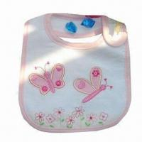 Wholesale Water-resistant Baby Bib, with Strong Water Absorb Ability Capacity, Various Designs are Available from china suppliers