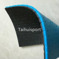 Quality High Strength Turf Rubber Carpet Underlay Shock Pad With Foam Underneath for sale