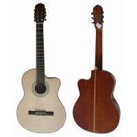Wholesale 39 inch Black ABS 5 Line Bleach Spruce Top Wood Classical Guitar CG3921C-B from china suppliers