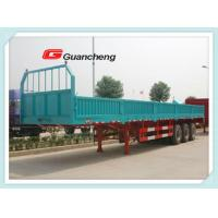 Wholesale Sidewall 3 axles 50 ton complete side wall cargo semi flatbed trailers with bpw axles from china suppliers