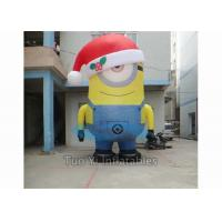 Quality PVC Tarpaulin Inflatable Cartoon Character Giant Inflatable Minions Customized Size for sale