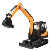 China 6.5 Ton Steel Track Small Ditch Digger Excavator Small Size With Kubota Engine on sale