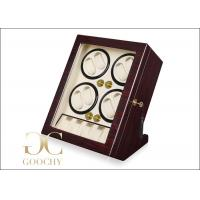 Wholesale PU Leather Quad Watch Winder , 4 Watch Winder Box for Automatic Watches from china suppliers