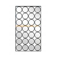 Wholesale Modern design rectangle shape mixed circle decorated metal Iron framed mirror from china suppliers