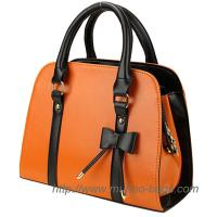 Wholesale Fashion Orange PU Lady handbag for wholesale (MH-6042) from china suppliers