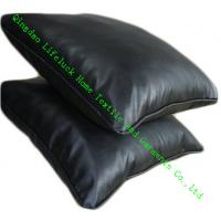 Wholesale PP Cotton Modern InnersThrow Pillows For Home / Office , Black Leather from china suppliers
