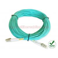 Wholesale Multimode OM4 LC Fiber Patch Cables Aqua Cable Color For Data Center Cabling from china suppliers