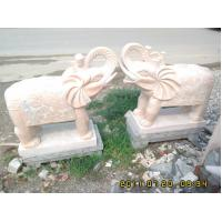 Wholesale Garden Hand Carved Stone Elephant Sculpture from china suppliers
